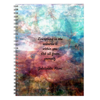 Rumi Uplifting Quote About Energy And Universe Notebooks