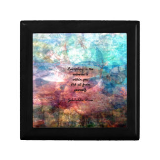 Rumi Uplifting Quote About Energy And Universe Trinket Box