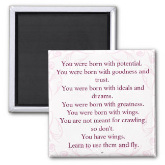 Rumi Wings Quote Magnet Magnet