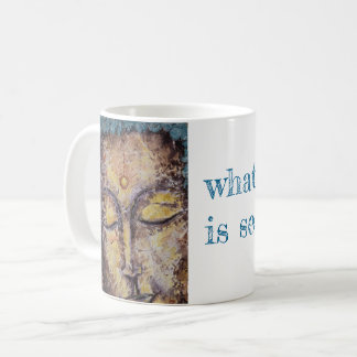 Rumi Zen Quote Buddha Art Coffee Mug