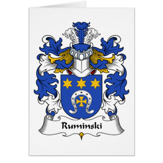 Ruminski Family Crest Card