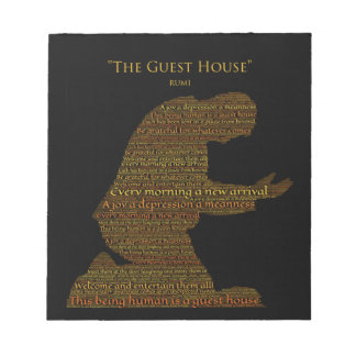 """Rumi's """"The Guest House"""" Poem Tile Notepads"""