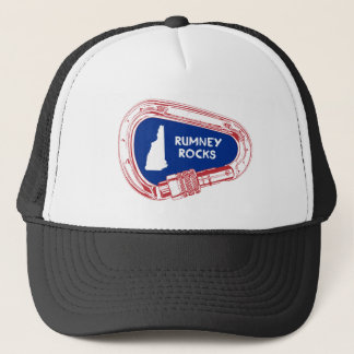 Rumney Rocks Climbing Carabiner Trucker Hat