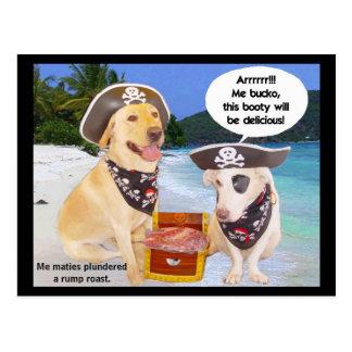 Rump Roast Pirate Booty Post Card