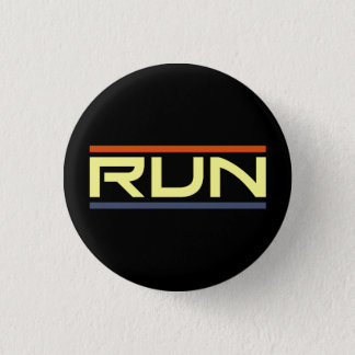 Run 1 Inch Round Button