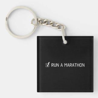Run A Marathon Keychain