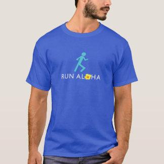Run Aloha Men's Dark Basic Tshirt