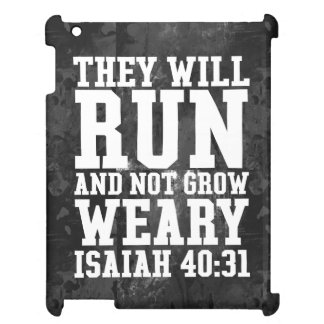Run and Not Grow Weary Christian Bible Running Cover For The iPad