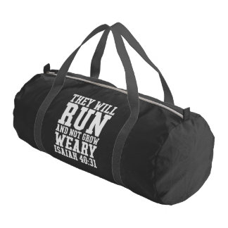 Run and Not Grow Weary Christian Bible Running Gym Bag