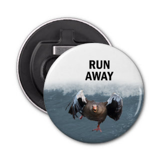 Run away bottle opener
