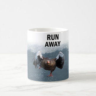 Run away coffee mug
