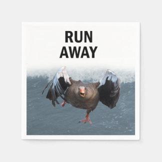 Run away paper napkin