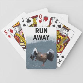 Run away playing cards