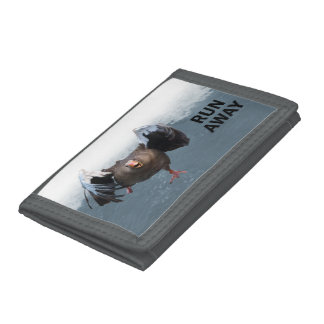 Run away trifold wallet