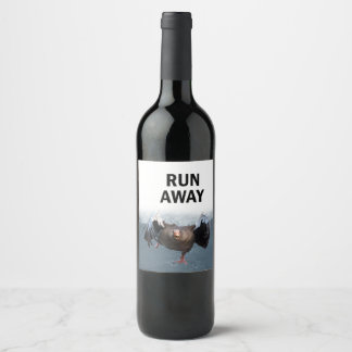 Run away wine label