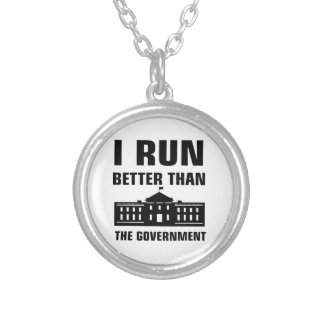Run better than the Government Silver Plated Necklace