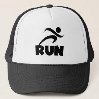 RUN Black Trucker Hat