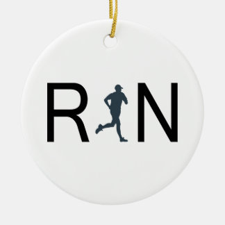 Run Ceramic Ornament