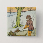 Run, Dandy Run, 20th century 2 Inch Square Button