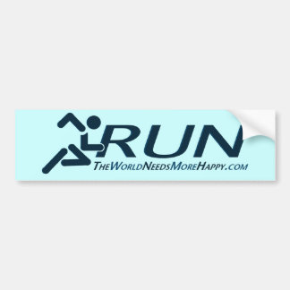 Run-Dark Blue Bumper Sticker