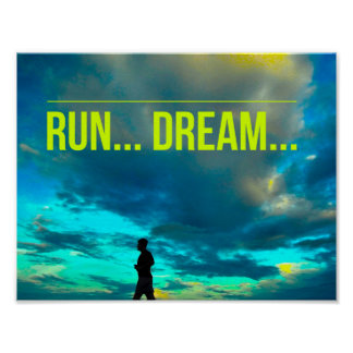 Run Dream - Motivational Running Poster