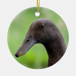Run duck head ceramic ornament
