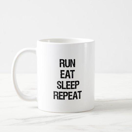 Run Eat Sleep Repeat Runner's Mug