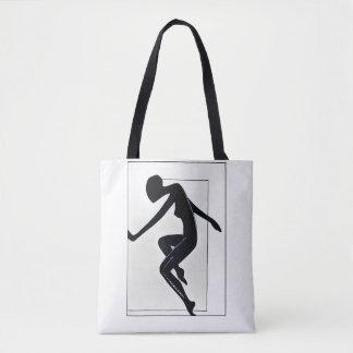 Run. Female silhouette Tote Bag