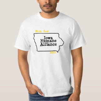 Run for Iowa Humane Alliance T-Shirt