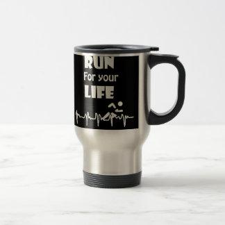 Run for Your Life Running Heart Rate Design Travel Mug
