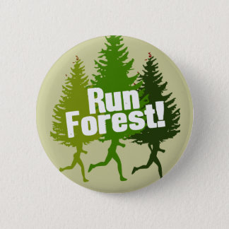 Run Forest, Protect the Earth Day 2 Inch Round Button