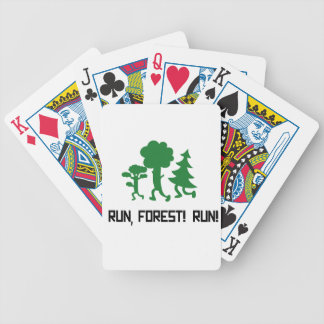 Run, Forest! RUN! Bicycle Playing Cards
