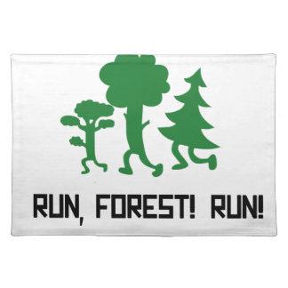 Run, Forest! RUN! Placemat