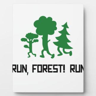Run, Forest! RUN! Plaque