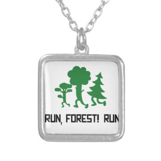 Run, Forest! RUN! Silver Plated Necklace