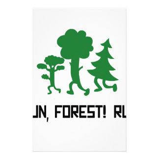 Run, Forest! RUN! Stationery