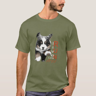 Run Free Berner Puppy men's t-shirt