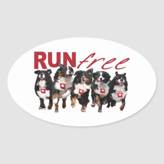 Run Free Berner stickers