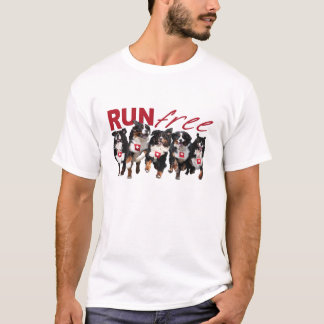 Run Free Berner t-shirt in light colors