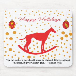 Run Free - Save the Greyhounds! (with poem) Mouse Pad