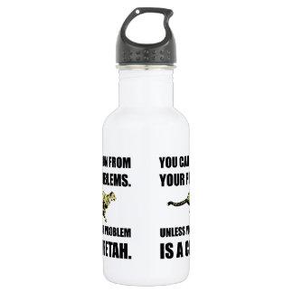 Run From Problems Unless Cheetah 532 Ml Water Bottle