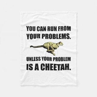 Run From Problems Unless Cheetah Fleece Blanket