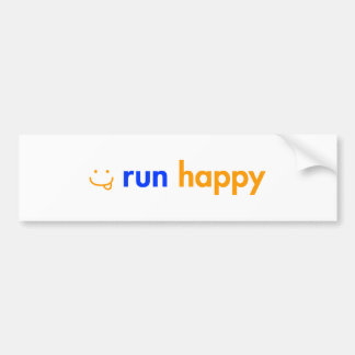 run-happy-smile-orange-blue.png bumper sticker