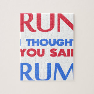 RUN I THOUGHT YOU SAID RUM JIGSAW PUZZLE