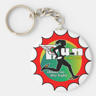 Run in the Sun Keychain