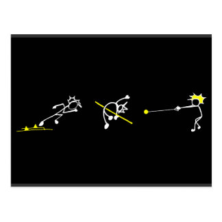 Run Jump Throw Stickman Track& Field Athletics Postcard