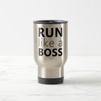 Run Like A Boss 15 Oz Stainless Steel Travel Mug