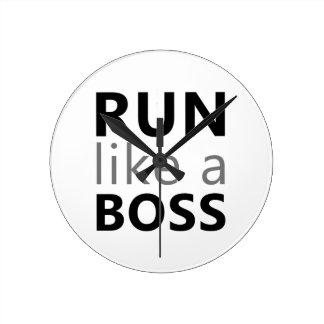 Run Like A Boss Round Clock