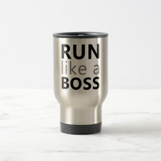 Run Like A Boss Stainless Steel Travel Mug