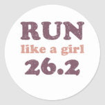 Run like a girl 26.2 sticker